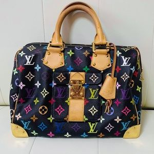 🦄 LOUIS VUITTON SPEEDY 30 MULTI NOIR VGUC 🦄